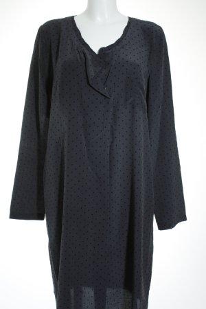 E-go Blusenkleid dunkelblau Punktemuster klassischer Stil