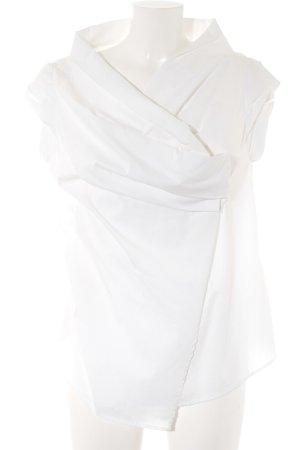 E-go Kurzarm-Bluse weiß klassischer Stil