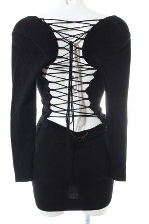 E. Loco Langarmkleid schwarz extravaganter Stil