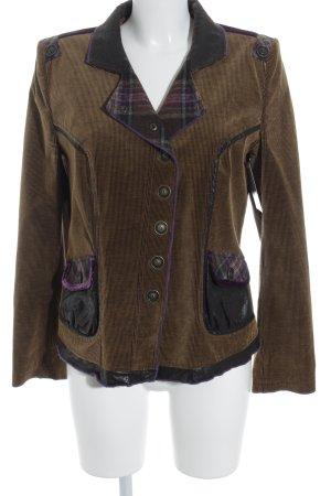 e-motion Veste bavaroise bronze-brun pourpre motif à carreaux