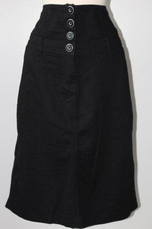 e- vie Rock mit hohem Bund schwarz Stiefelrock Winter Gr. 46 Jeansstil