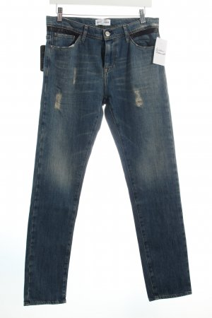 EACH x OTHER Slim Jeans dunkelblau Used-Optik