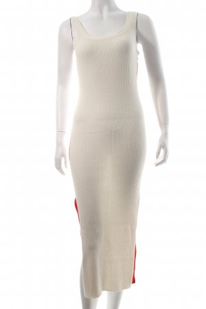 EACH x OTHER Strickkleid creme-rot sportlicher Stil