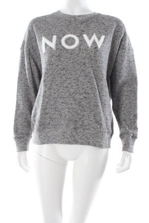 EACH x OTHER Sweatshirt grau-schwarz meliert College-Look