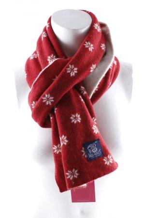 Eagle Products Sciarpa di lana crema-rosso stile casual