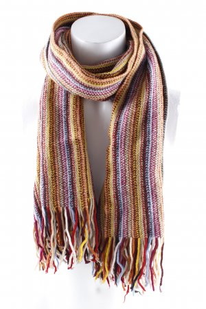Eagle Products Woolen Scarf striped pattern Fringe Trimming