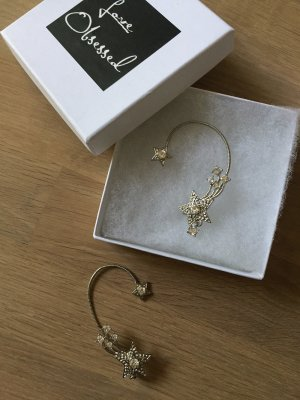"Ear Cuff Ear Piece Ohrring ""Love Obsessed"" Sterne Funkelnd Sternschnuppe Statement"