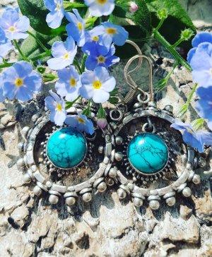 Silver Earrings turquoise