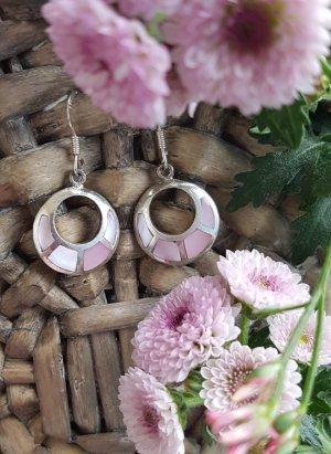 Boucles d'oreilles en argent or rose-blanc