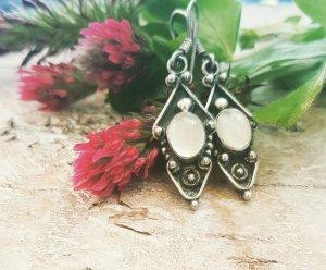 Silver Earrings white