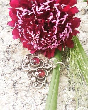 Silver Earrings red