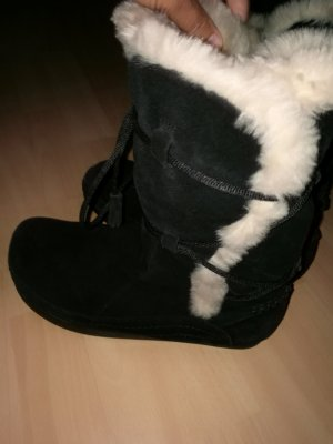 Fur Boots black suede