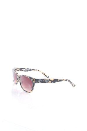 East eckige Sonnenbrille hellbeige-dunkelbraun Tortoisemuster klassischer Stil