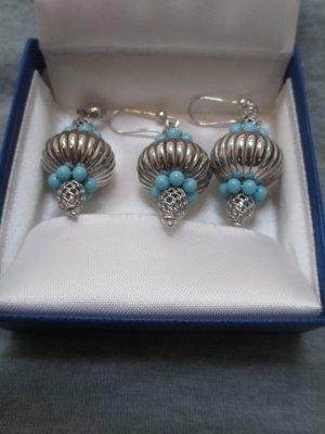 Joyería color plata-azul claro plata verdadero