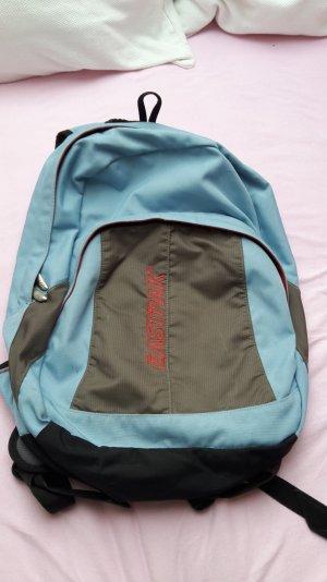 Eastpak Rucksach Tasche blau grau rot