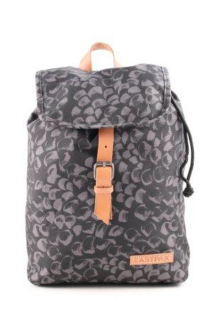 Eastpak Sac à dos collège noir-gris clair motif abstrait style décontracté