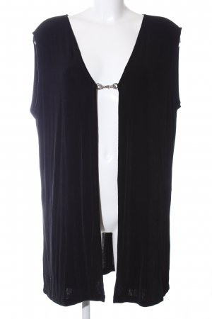 Easy Chic Long Knitted Vest black casual look