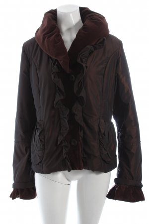 Easy Comfort Steppjacke braun Materialmix-Look