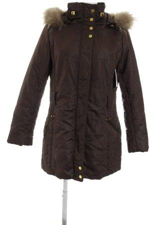 Easy Comfort Veste d'hiver brun foncé style décontracté