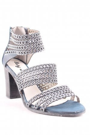 Easy way High-Heeled Toe-Post Sandals slate-gray-silver-colored casual look
