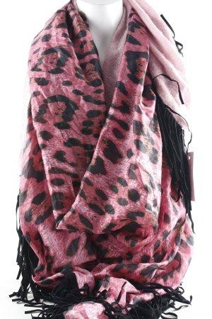 Ebony & Ivory Sjaal met franjes dierenprint dierenprint