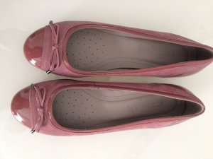 Ecco Patent Leather Ballerinas pink
