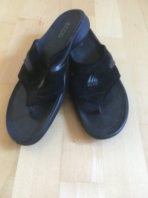 Ecco, Flip Flop, Schuhe, schwarz, wie neu