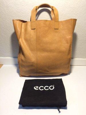 Ecco Handtasche/Henkeltasche aus braunem Leder