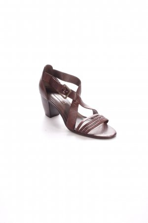 Ecco High Heel Sandaletten braun Country-Look