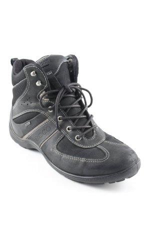 Ecco High Top Sneaker schwarz sportlicher Stil