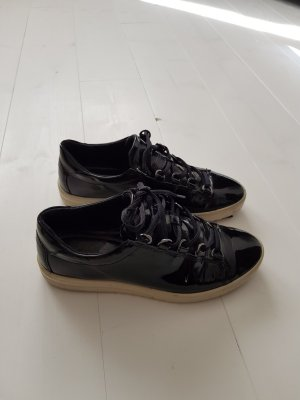 Ecco Lackschuhe Sneaker Lackleder Gr. 38