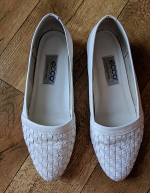 Ecco Patent Leather Ballerinas white leather