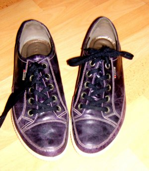 Ecco Leder Sneaker lila metallic