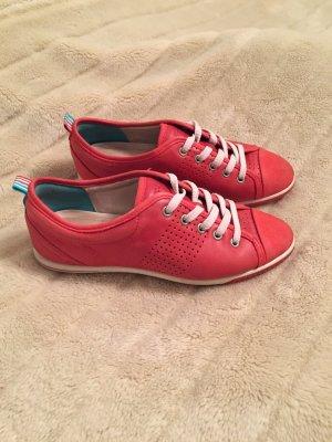 Ecco Leder Sneaker rot Größe 38