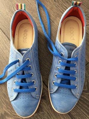 Ecco Ledersneaker hellblau