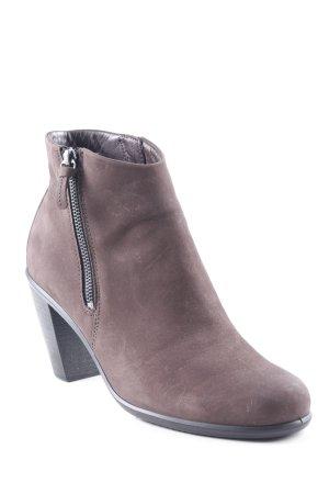 Ecco Reißverschluss-Stiefeletten dunkelbraun klassischer Stil