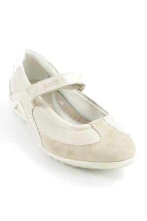 Ecco Ballerina's met bandjes beige-room casual uitstraling