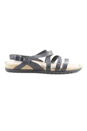 Ecco Riemchen-Sandaletten schwarz Casual-Look