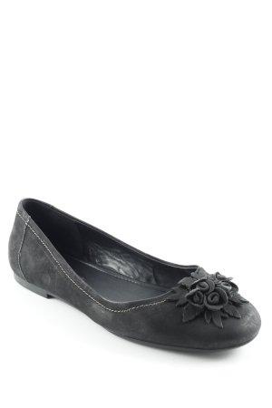 Ecco Schlüpfschuhe schwarz-grau florales Muster Casual-Look