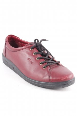 Ecco Zapatos brogue burdeos look casual