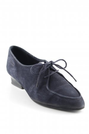 Ecco Zapatos brogue azul oscuro look casual