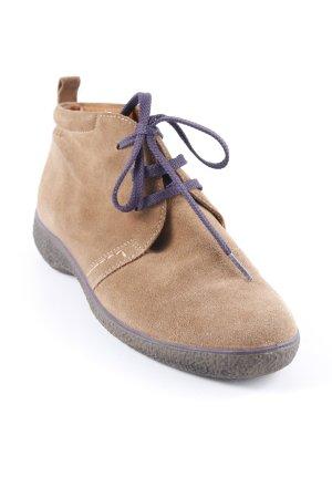 Ecco Schnürschuhe sandbraun-dunkelviolett Vintage-Look