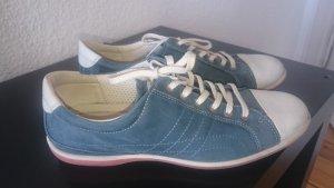 Ecco Sneaker Gr. 38 Leder blau