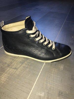Ecco Sneaker schwarz beige Gr. 36