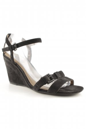 Ecco Wedge Sandals black simple style