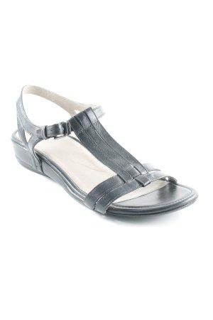 Ecco Wedges Sandaletten schwarz-schwarzbraun Casual-Look