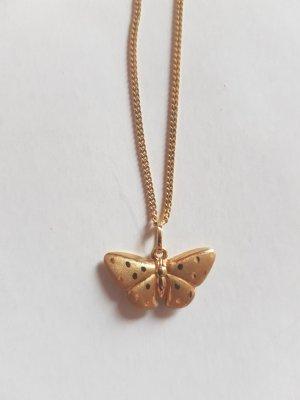 Echt 585 Goldkette Schmetterling 14 Karat