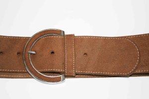 Cinturón de cadera beige Gamuza