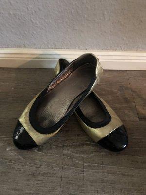 Pretty ballerinas Lakleren ballerina's goud-zwart