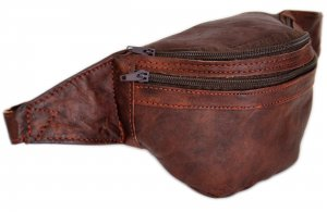 Bumbag dark brown leather